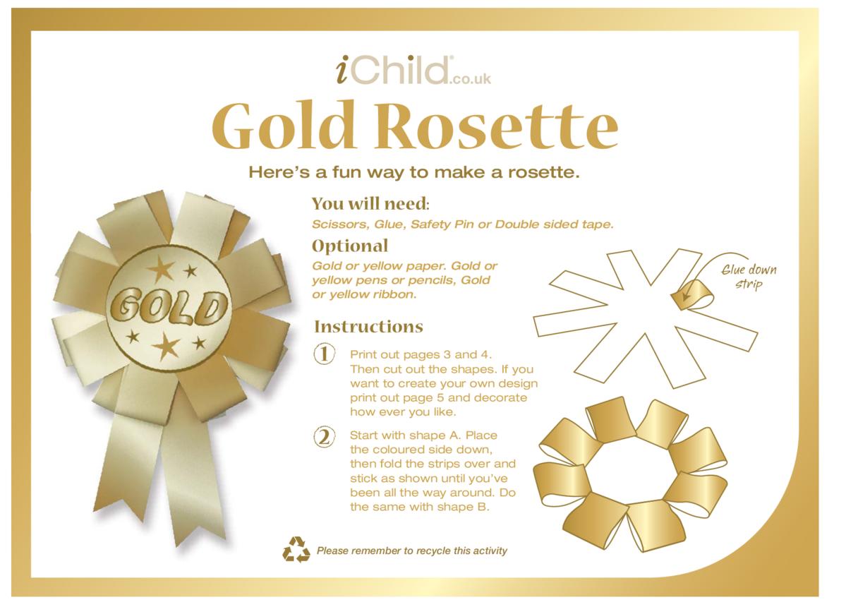Make a Gold Rosette