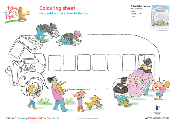 Thumbnail image for the A Bus Called Heaven: Colouring in Picture activity.