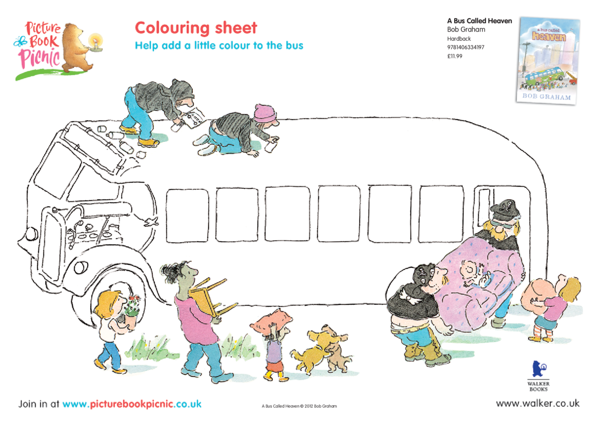 A Bus Called Heaven: Colouring in Picture