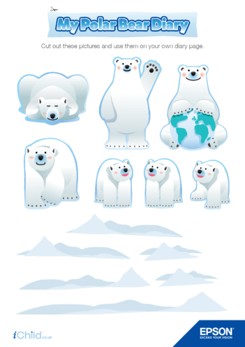 Thumbnail image for the 6) Epson Polar Bear Diary Page Decorations activity.