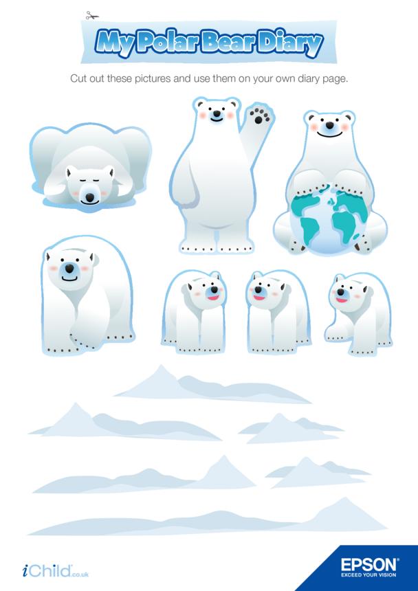 6) Epson Polar Bear Diary Page Decorations