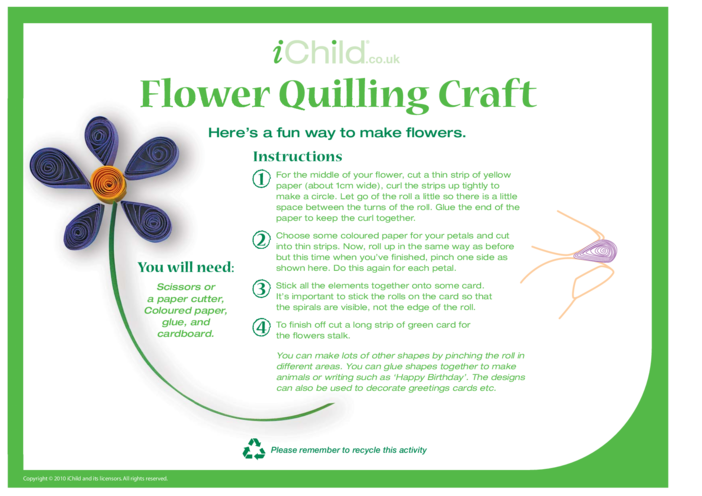 Thumbnail image for the Paper Quilling activity.