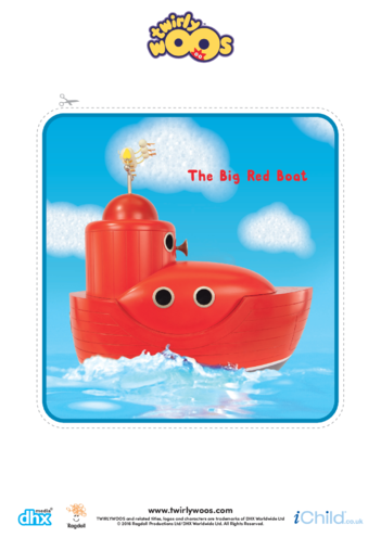 Thumbnail image for the The Big Red Boat Cut-out activity.