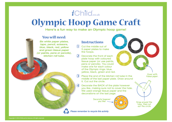 Thumbnail image for the Hoops Game Paper Plate Craft activity.