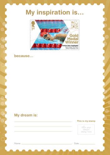 Thumbnail image for the My Inspiration Is- Jessica-Jane Applegate- Gold Medal Winner Stamp Template activity.