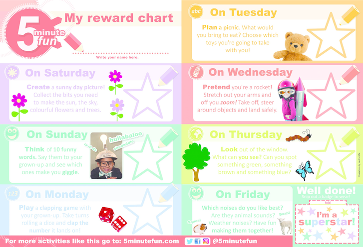 Thumbnail image for the 5 Minute Fun Reward Chart activity.