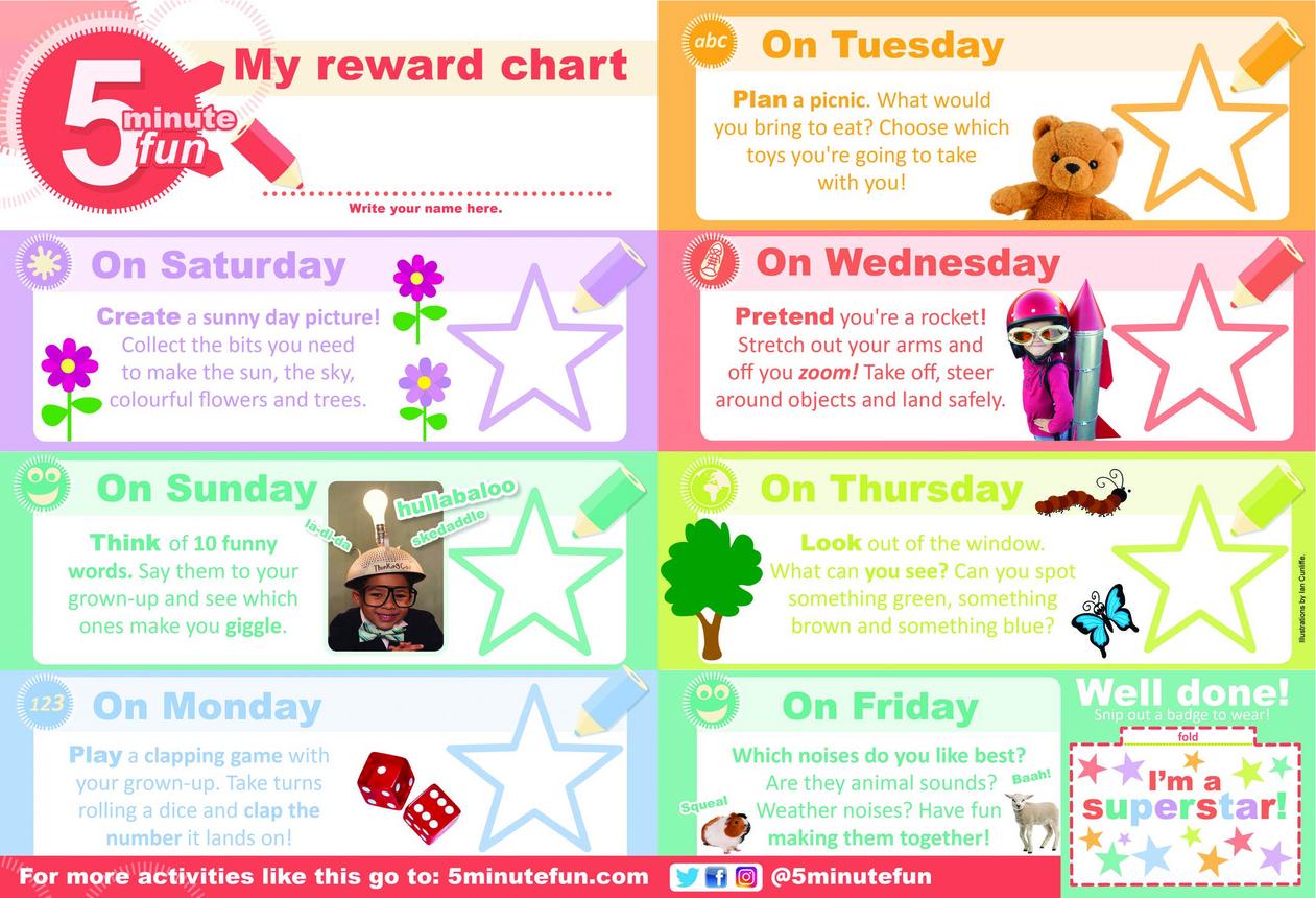 5 Minute Fun Reward Chart