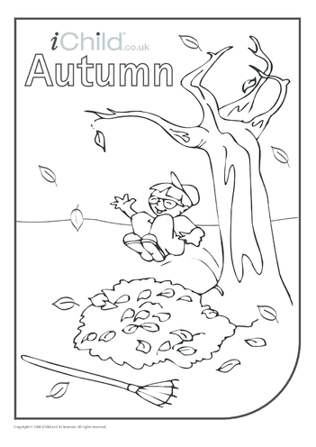 Thumbnail image for the Autumn Colouring in Picture activity.