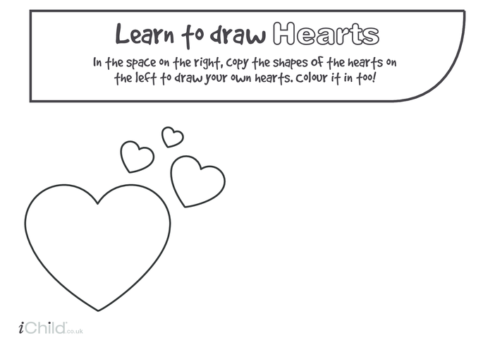 Thumbnail image for the Heart Drawing Template activity.