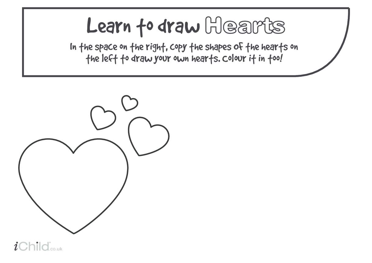 Heart Drawing Template