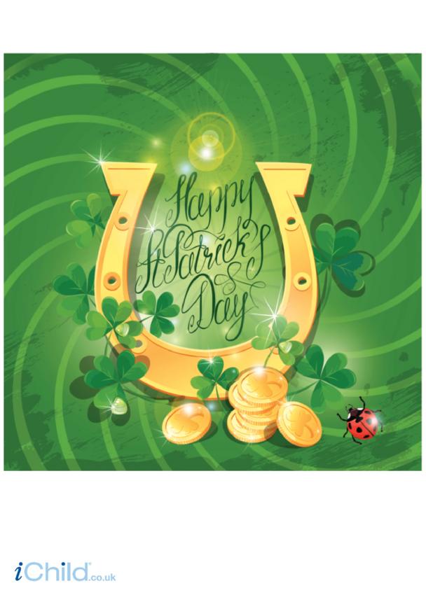 St. Patrick's Day Horseshoe Poster