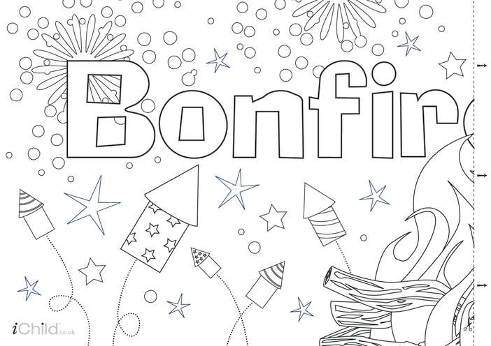 Thumbnail image for the Bonfire Night Banner activity.