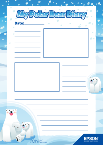 Thumbnail image for the 5) Epson Polar Bear Diary Template- 2 Smaller Photo Spaces activity.