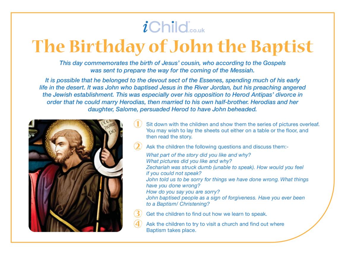 St. John the Baptist Religious Festival Story