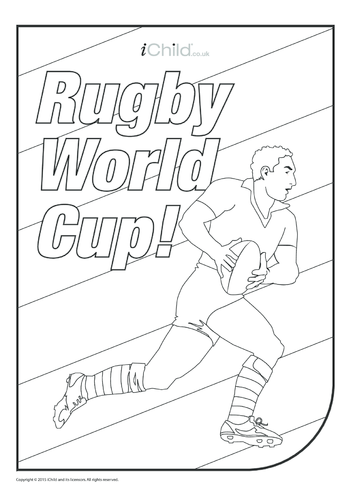 Thumbnail image for the Rugby Player Colouring in Picture activity.