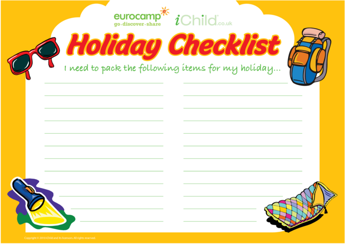 Thumbnail image for the Holiday Checklist activity.