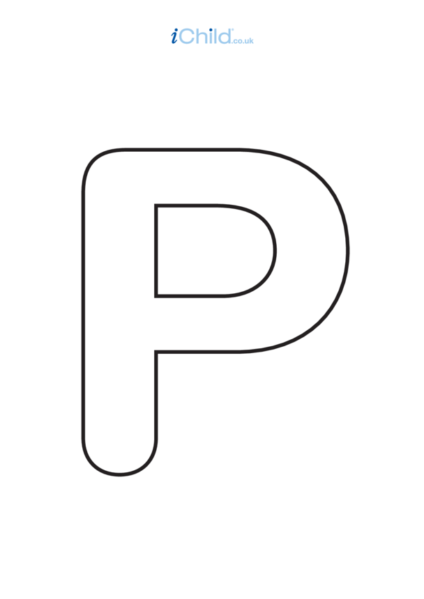 Poster of the Letter 'P', black and white