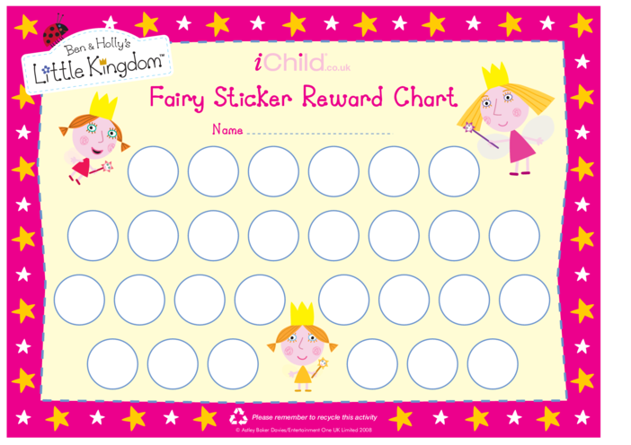 Thumbnail image for the Fairy Sticker Reward Chart activity.