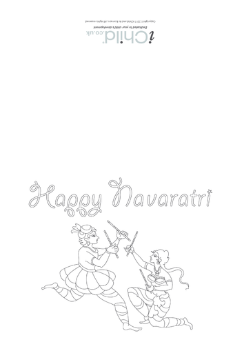 Thumbnail image for the Happy Navaratri Greeting Card (Horizontal) activity.