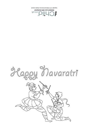 Thumbnail image for the Happy Navaratri Greeting Card (Horizontal) activity.