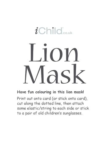 Thumbnail image for the Lion Animal Mask activity.