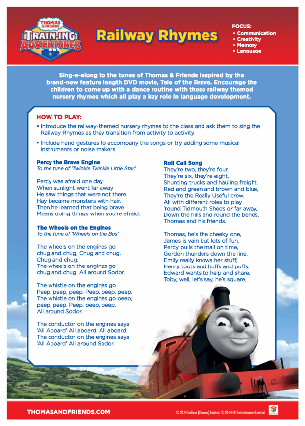 Activity: Railway Rhymes (Thomas & Friends)