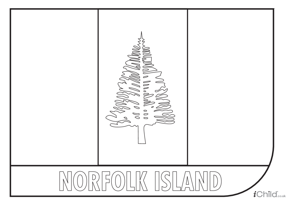 Norfolk Island Flag Colouring in Picture (flag of Norfolk Island)