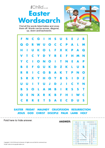 Thumbnail image for the Easter wordsearch activity.