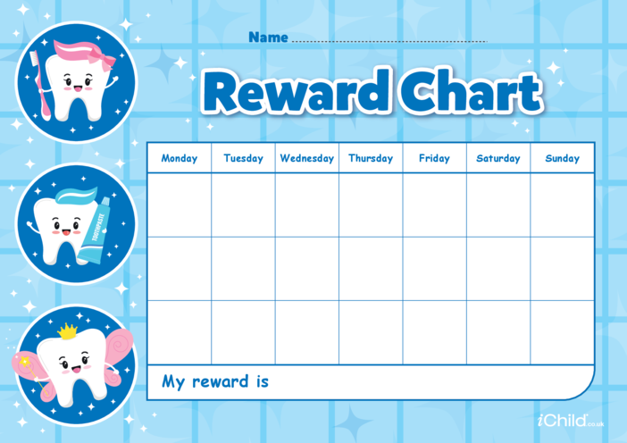 Thumbnail image for the Tooth Fairy Reward Chart activity.