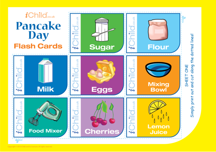 Thumbnail image for the Pancake Day Flash Cards activity.