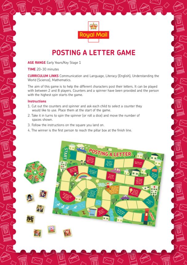 Posting a Letter Game Lesson Plan (EYFS/KS1)