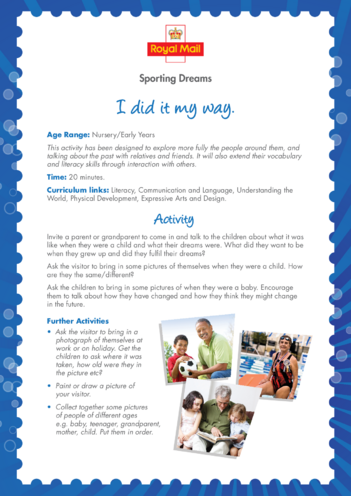 Thumbnail image for the Early Years 2) I Did it My Way Lesson Plan activity.