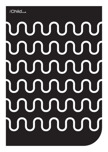 Thumbnail image for the Black & White Poster: Wave Pattern activity.