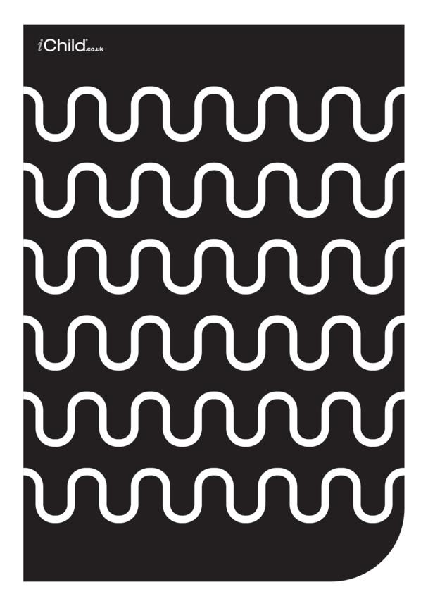 Black & White Poster: Wave Pattern