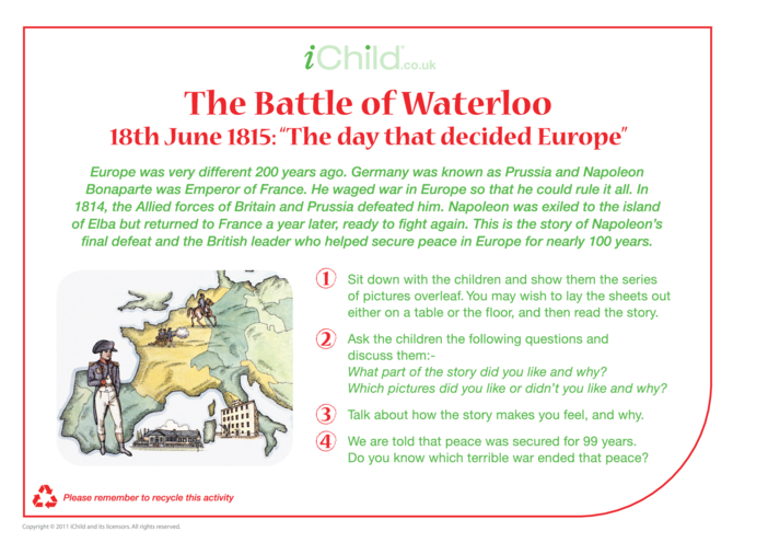 Thumbnail image for the Battle of Waterloo Historical Story activity.