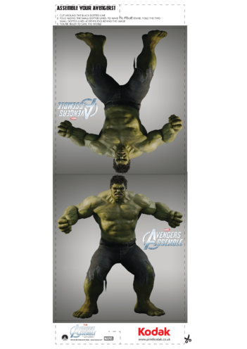 Thumbnail image for the Fold Figures: The Hulk activity.
