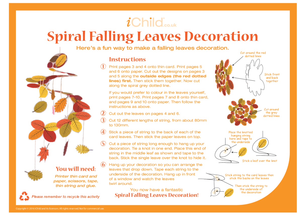 Spiral Falling Leaves Decoration