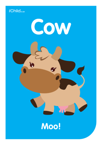Thumbnail image for the Contrasting Colours Poster: Cow activity.