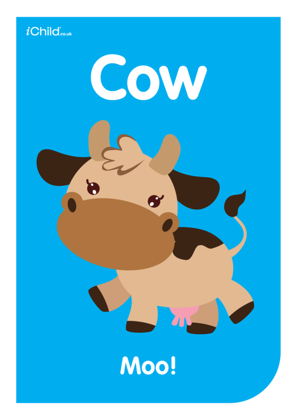 Contrasting Colours Poster: Cow