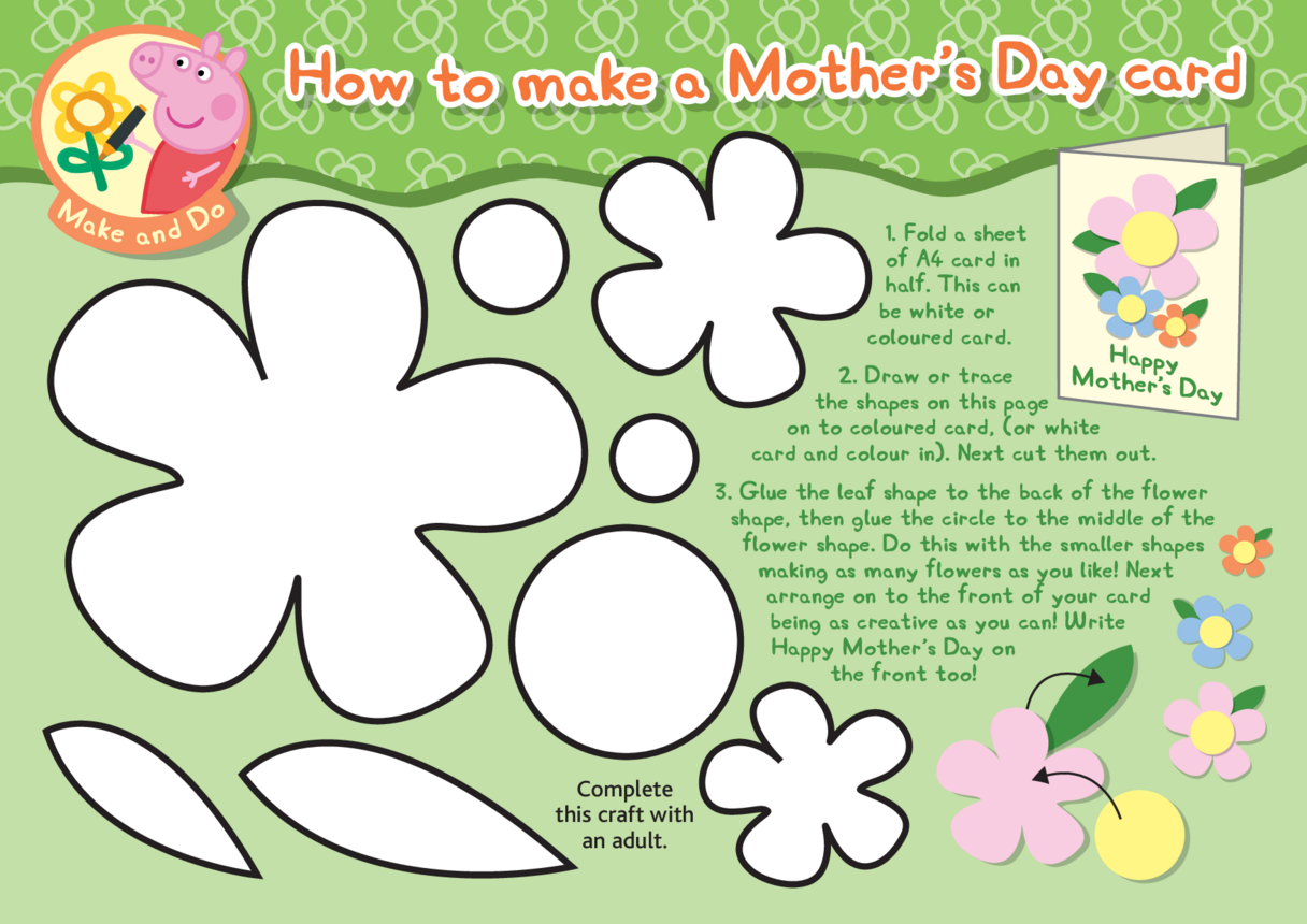 Peppa Pig Mother's Day Card Craft