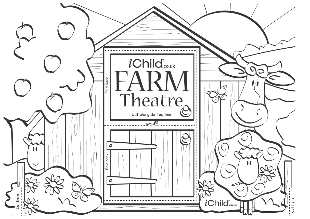Make your own farm puppet theatre