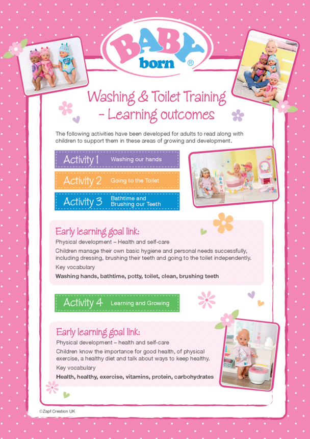 2020 BABY born - Washing & Toilet Training - Lesson Plan