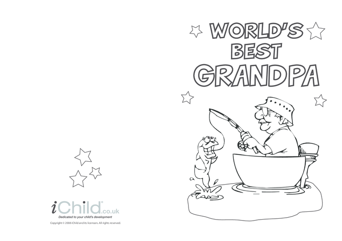 Thumbnail image for the Best Grandpa Card activity.