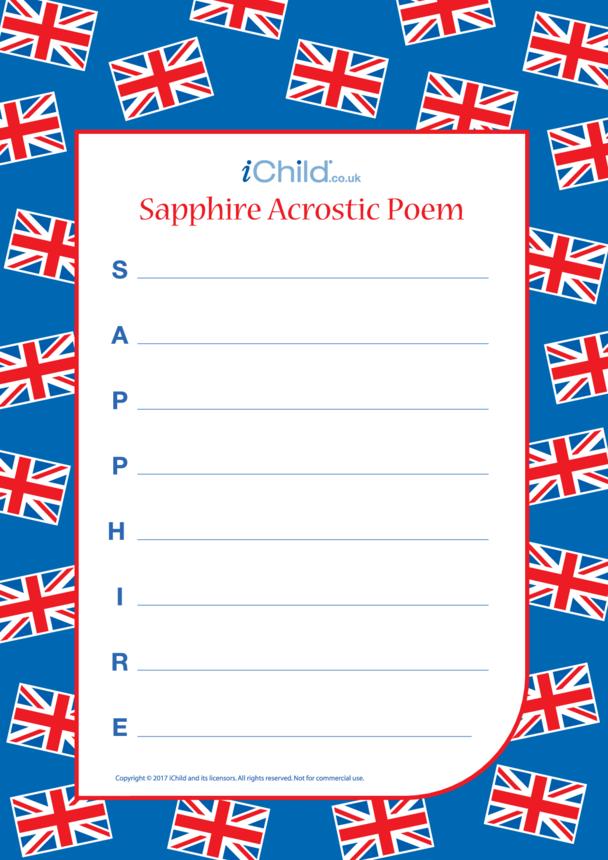 Sapphire Jubilee Acrostic Poem