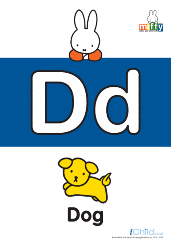 Thumbnail image for the D: Miffy's Letter Dd activity.
