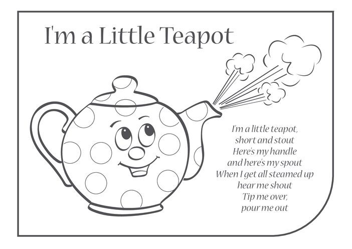 Thumbnail image for the I'm a Little Teapot Lyrics activity.