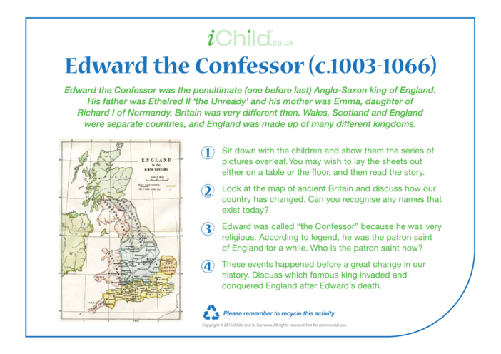 Thumbnail image for the Edward the Confessor Religious Festival Story activity.