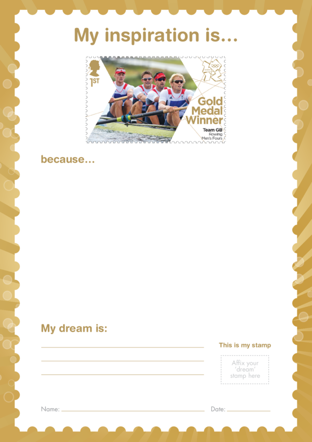 My Inspiration Is- Team GB Rowing Men's Fours- Gold Medal Winner Stamp