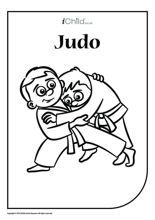 Judo Colouring in Picture