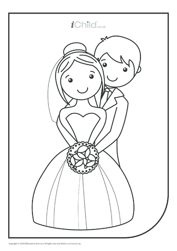 Thumbnail image for the Royal Wedding Colouring in Picture activity.